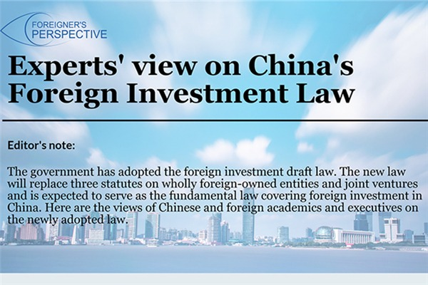 Experts' view on China's Foreign Investment Law