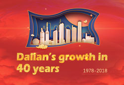 Dalian's growth in 40 years
