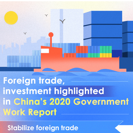 Foreign trade, investment highlighted in China's 2020 Government Work Report
