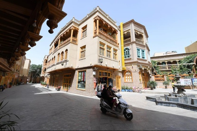 Old town turned into tourist attraction after renovation in Hotan