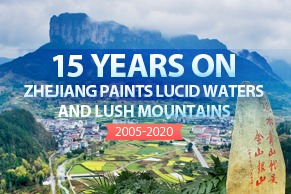 Zhejiang paints lucid waters and lush mountains