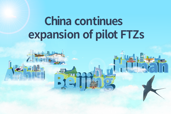 China continues expansion of pilot FTZs