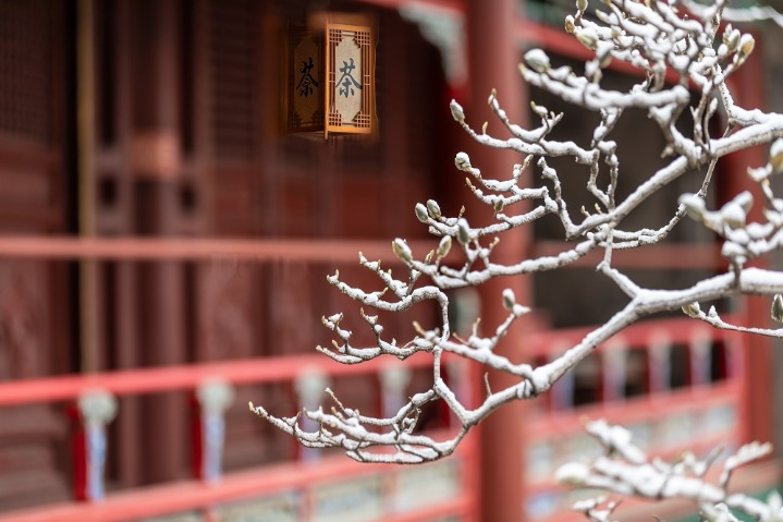 Snow scenes of Tanzhe Temple in Beijing