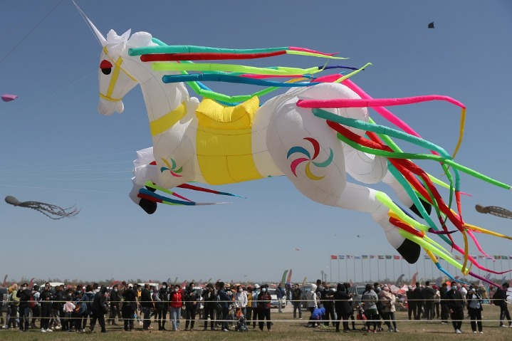 International kite exhibition opens in Weifang