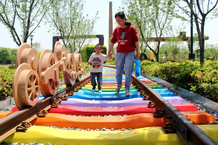 Rainbow track a hot attraction in Changzhou